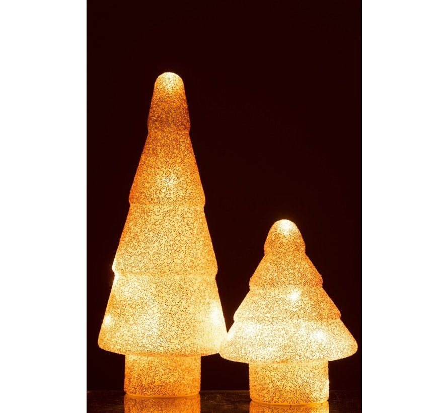 Decoration Tree Led Lighting Pearls Glass Pink - Small