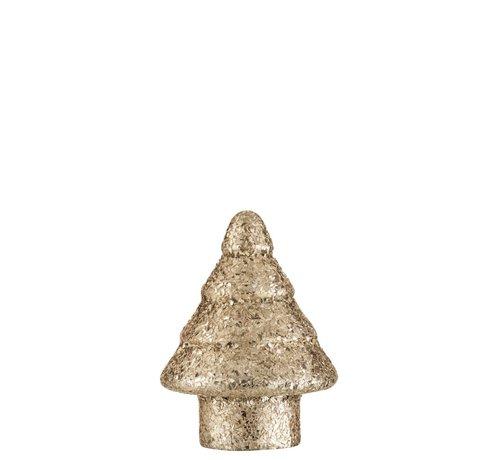 J -Line Decoration Tree Led Lighting Pearls Glass Gold - Small