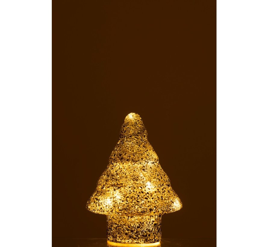 Decoration Tree Led Lighting Pearls Glass Silver - Small