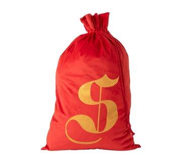 J-Line Storage bag Christmas atmosphere Velvet Red Gold - Large