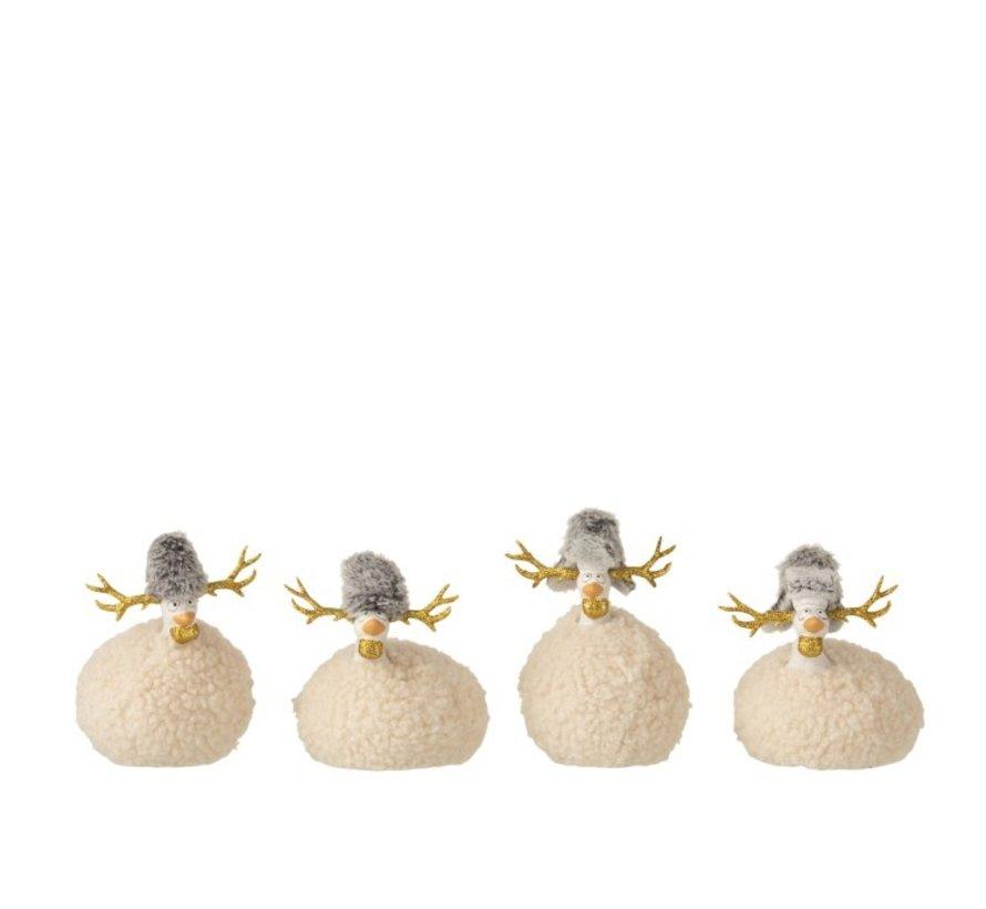 Decoration Chickens Reindeer Imitation Fur Beige Gray Gold - Small