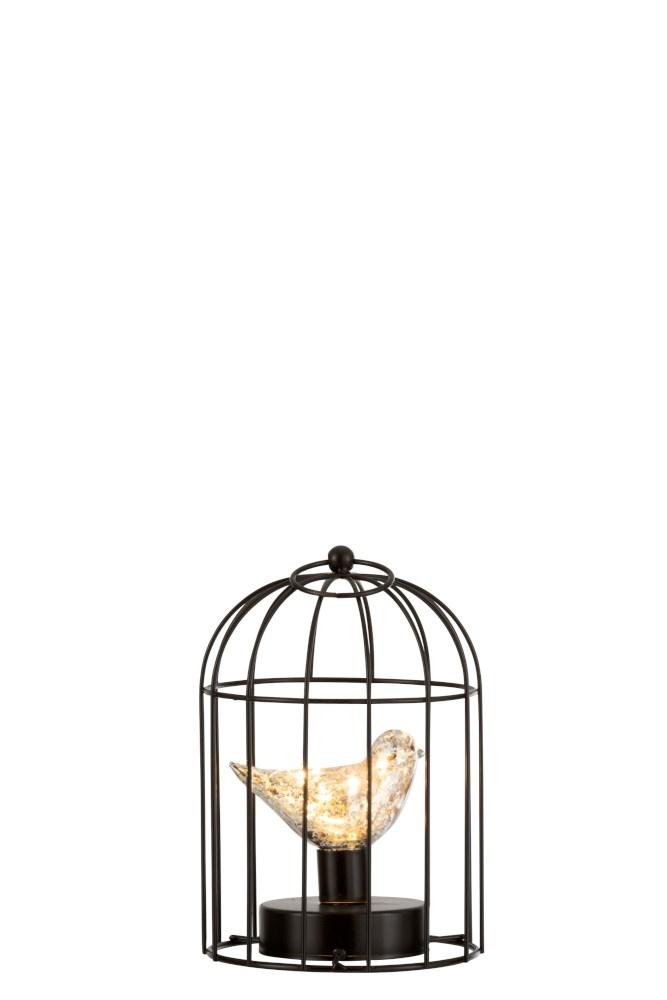 Decoratie Vogelkooi Met Vogeltje Ledverlichting Zilver Small Sl Homedecoration Com
