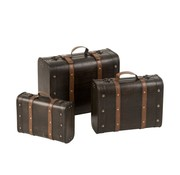 J -Line Decoration Storage boxes Rectangle Wood Light brown - Dark brown