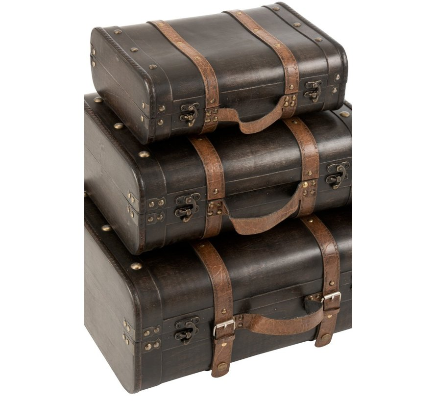 Decoration Storage boxes Rectangle Wood Light brown - Dark brown