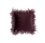 J -Line Kussen Vierkant Fluffy Pluimen Polyester - Paars
