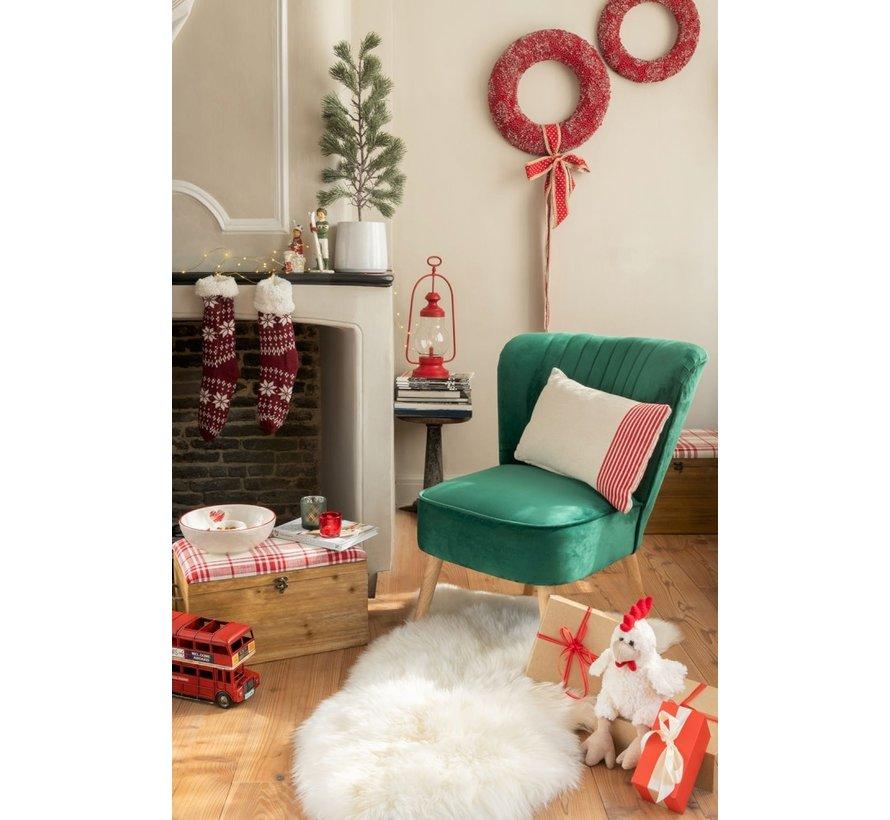 Decoratieve Kerstkousen Met Kerstpatronen Rood - Wit