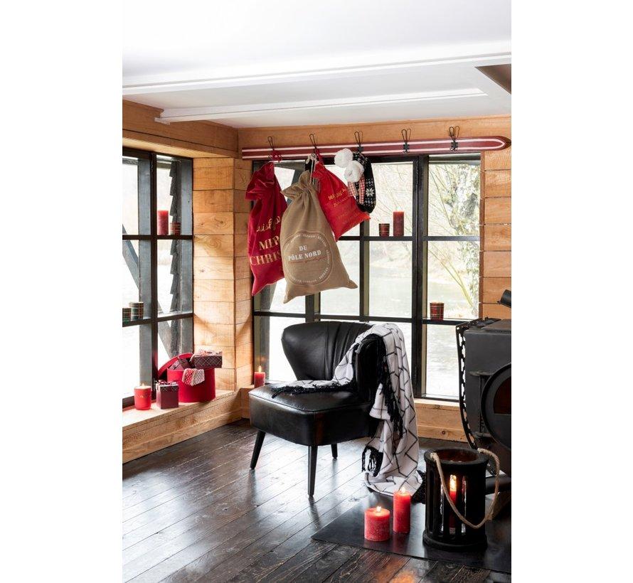 Decoratieve Kerstkousen Met Kerstpatronen Zwart - Wit