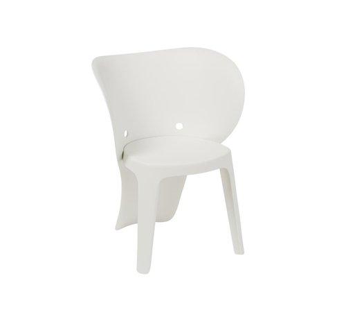 J-Line Highchair Sturdy Elephant Plastic - White