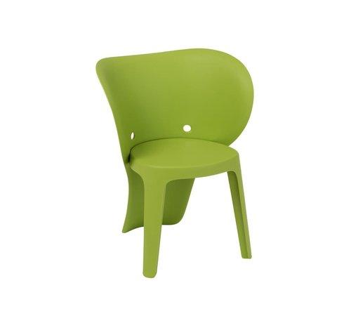 J-Line Highchair Sturdy Elephant Plastic - Green