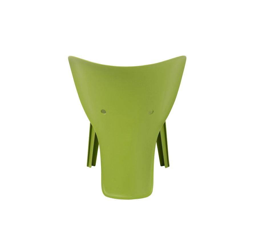 Highchair Sturdy Elephant Plastic - Green