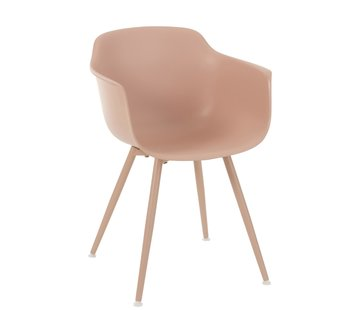 J -Line Bucket seat Wooden Legs Pastel Pink - Brown