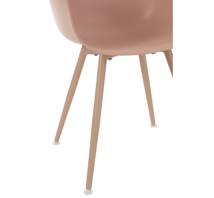 Bucket seat Wooden Legs Pastel Pink - Brown