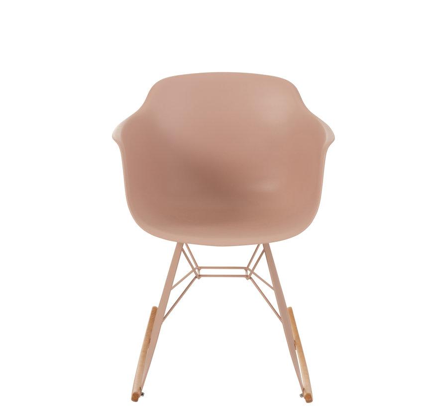 Rocking chair Pastel Pink Brown