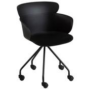 J -Line Office Chair On Wheels Metal Polypropylene - Black