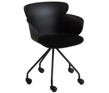 J-Line Office Chair On Wheels Metal Polypropylene - Black