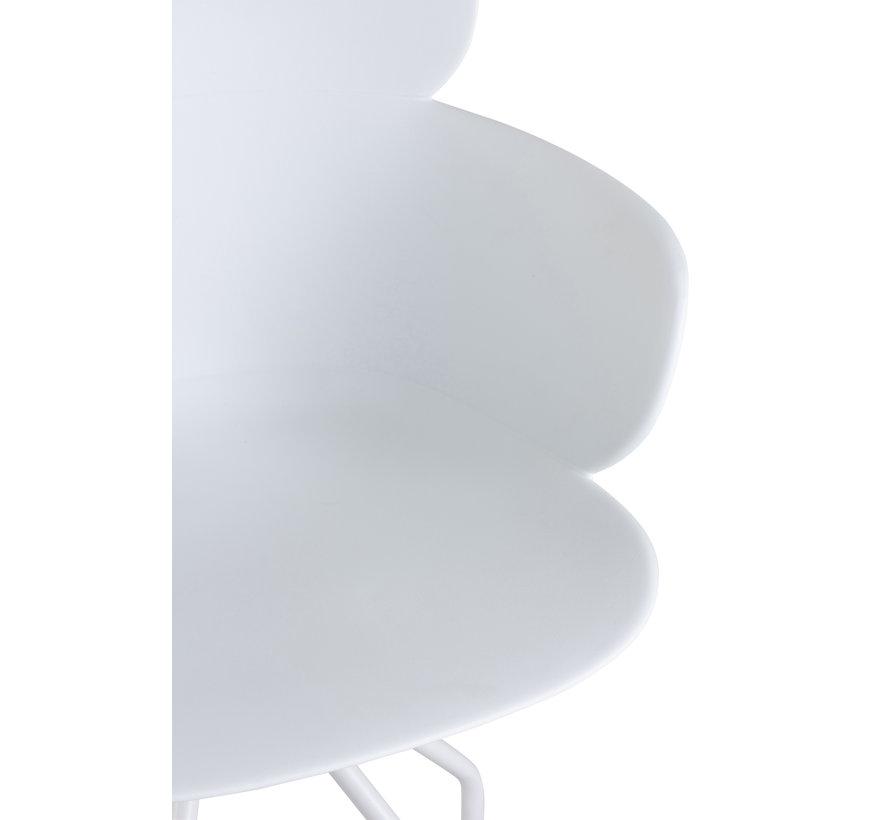 Office Chair On Wheels Metal Polypropylene - White