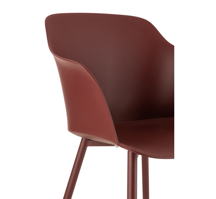 Bucket seat Polypropylene Metal Legs - Bordeaux