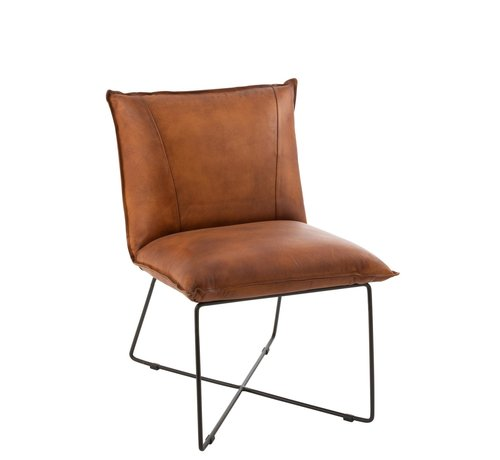 Dining Room Chair Leather Metal Legs, Leather Dining Room Chairs