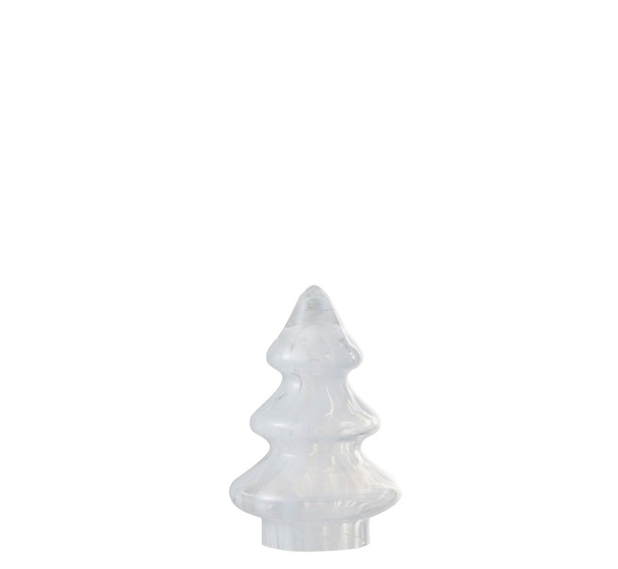 Decoration Tree Glass Flamed White - Small