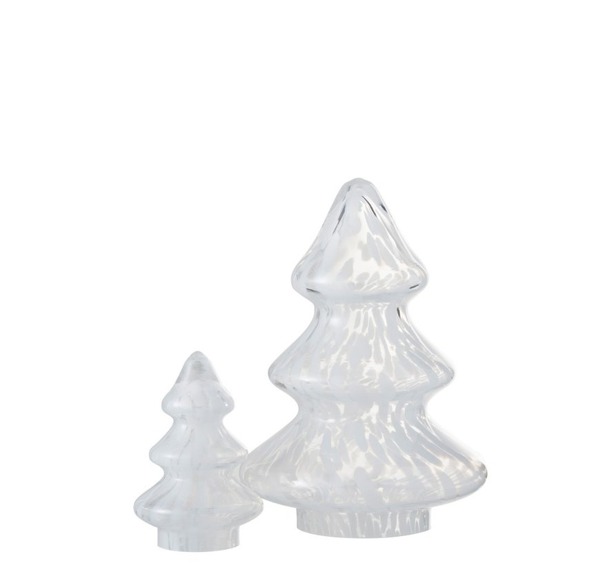 Decoration Tree Glass Flamed White - Large