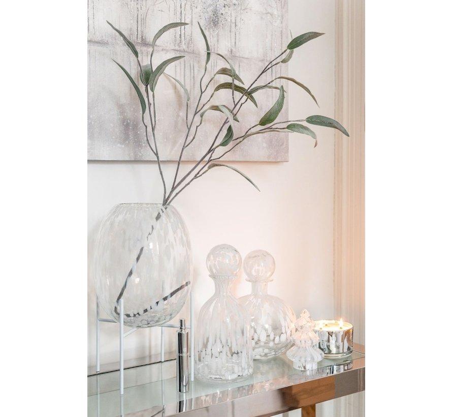 Decoratie Karaf Glas Spikkels Transparant Wit - Large