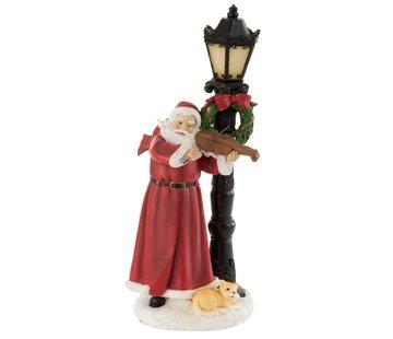 J-Line Decoration Santa Claus Violin Lantern Led - Mix Colors