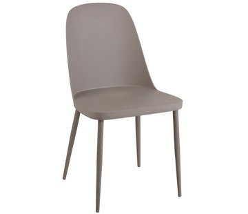 J -Line Chair Modern Polypropylene Gray - Beige