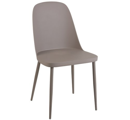 J -Line Chair Modern Polypropylene Gray - Beige