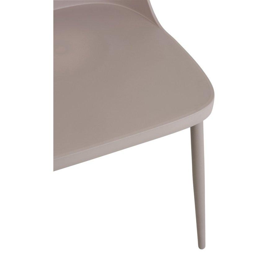 Chair Modern Polypropylene Gray - Beige