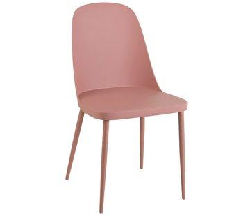 J-Line Chair Modern Polypropylene Pastel - Pink