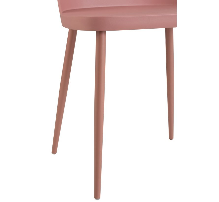Stoel Modern Polypropyleen Pastel - Roze