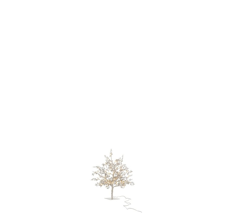 Table lamp Tree Leaves Glitters Led Silver - Small