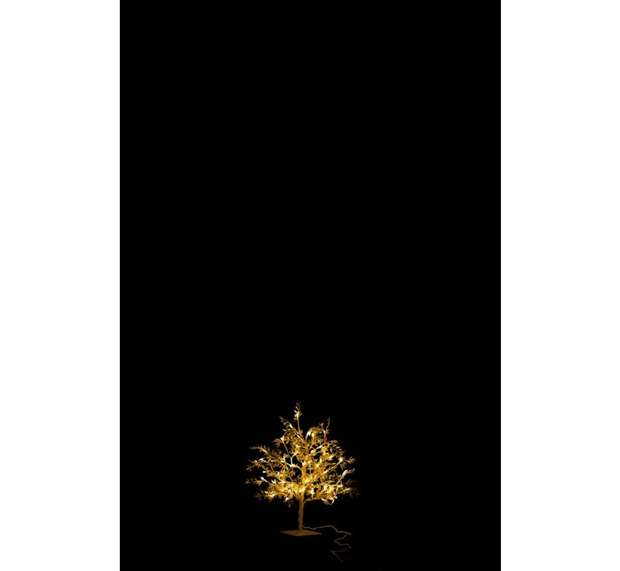 Tafellamp Boom Bladeren Glitters Led Zilver - Small