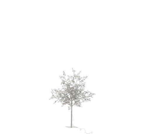 J-Line Table lamp Tree Leaves Glitters Led Silver - Medium