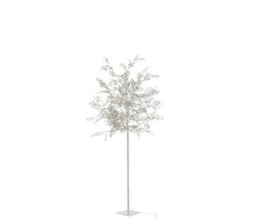 J-Line Staande Lamp Boom Bladeren Glitters Led Zilver - Large