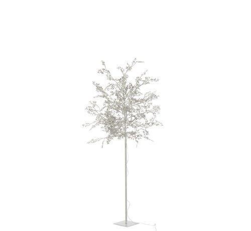 J -Line Staande Lamp Boom Bladeren Glitters Led Zilver - Large