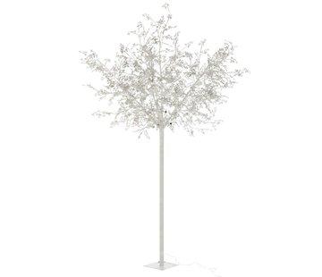J-Line Staande Lamp Boom Bladeren Glitters Led Zilver - Extra Large