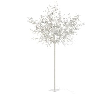 J-Line Standing Lamp Tree Leaves Glitters Led Silver - Extra Large