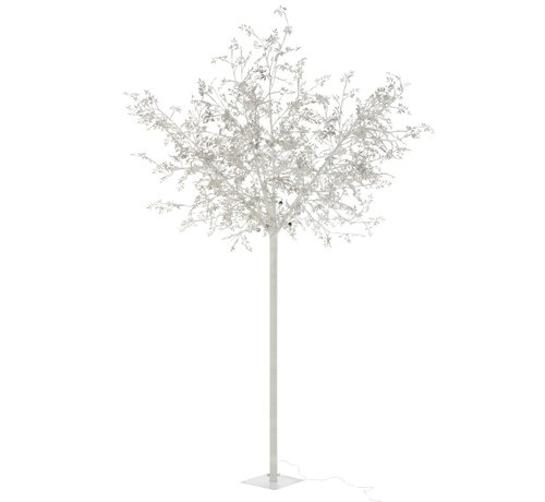 J -Line Standing Lamp Tree Leaves Glitters Led Silver - Extra Large