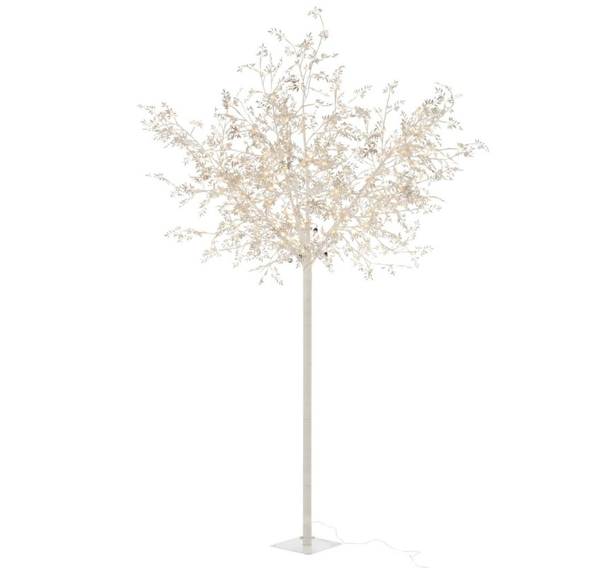 Staande Lamp Boom Bladeren Glitters Led Zilver - Extra Large