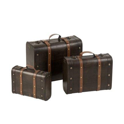 Opbergkoffers, manden en boxen