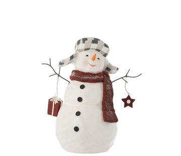 J -Line Decoration Snowman Poly Clothing Suit - Large