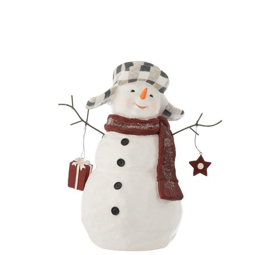 Decoratie Sneeuwman Poly Kledij Pakje - Large
