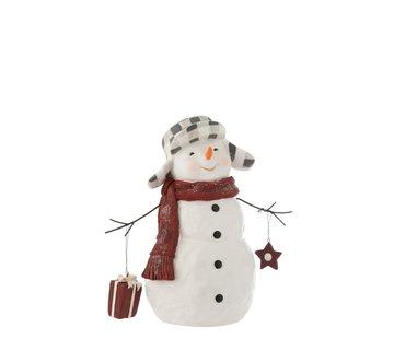 J -Line Decoratie Sneeuwman Poly Kledij Pakje - Small