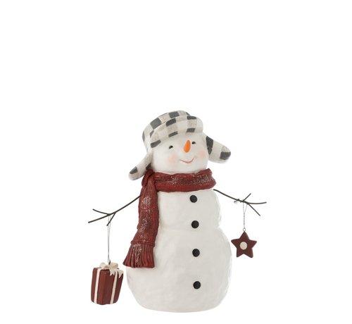 J -Line Decoration Snowman Poly Clothing Suit - Small