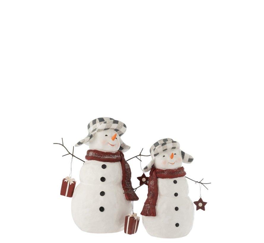 Decoratie Sneeuwman Poly Kledij Pakje - Small