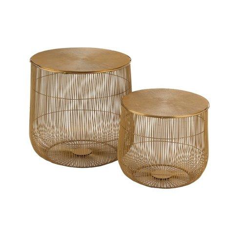 J-Line Side tables Round Baskets Ironwork Metal - Gold