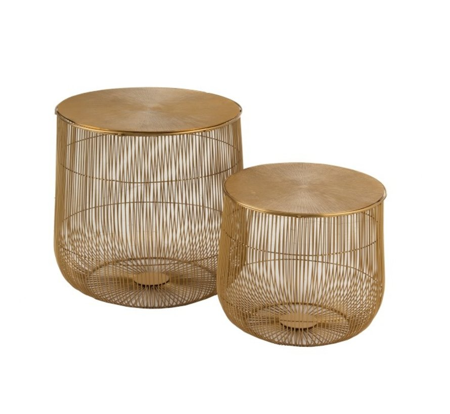 Side tables Round Baskets Ironwork Metal - Gold