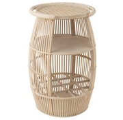 J -Line Side table rural Open Ton Wood - Natural Brown