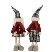 J -Line Decoration Christmas dolls Winter Clothes Mix Colors - Large